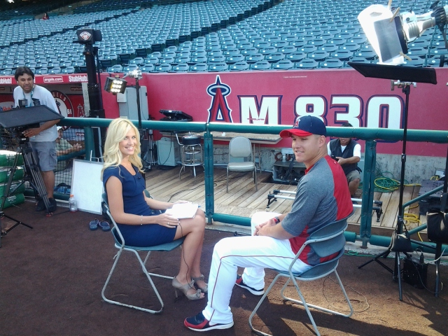 Kristine with Mike Trout